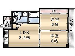 高井田青山ビル[4階]の間取り