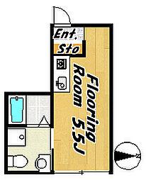 フローラ7[1階]の間取り