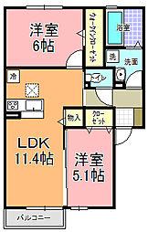 仮)D−room宮田町C[1階]の間取り