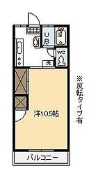 後藤マンション[101号室]の間取り