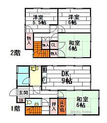 [一戸建] 大阪府豊中市庄内栄町1丁目 の賃貸【/】の間取り