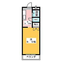 ドルフ春日井[3階]の間取り