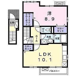 フロンティア[2階]の間取り