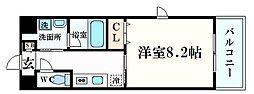 エバーグレイス西宮3 3階1Kの間取り