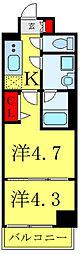 都営三田線 西巣鴨駅 徒歩7分の賃貸マンション 4階2Kの間取り