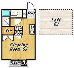 パークホームズ[2階]の間取り