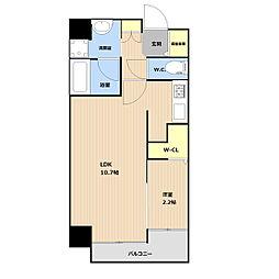 (仮称)平和3丁目マンション 6階1LDKの間取り