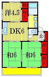 千葉県船橋市三山5丁目の賃貸アパートの間取り