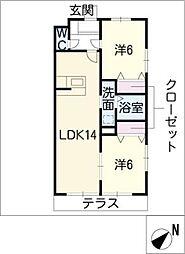 メゾングランジュテ[2階]の間取り