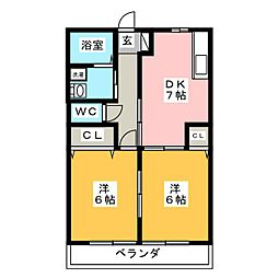 レトア高根 A棟[1階]の間取り
