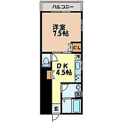 PARADAISE SAKAMOTO[102号室]の間取り