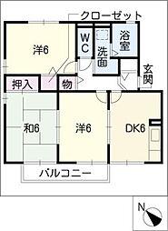 フォンテーヌB棟[1階]の間取り