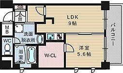 アクア阿波座[1階]の間取り