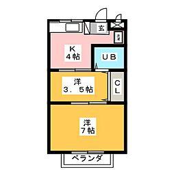 ニューシティフジ[2階]の間取り