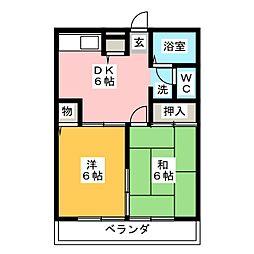 アベニュー弐番館[2階]の間取り
