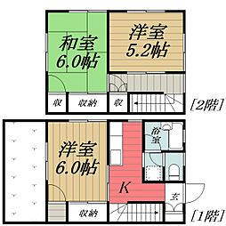 [テラスハウス] 千葉県千葉市中央区浜野町 の賃貸【/】の間取り