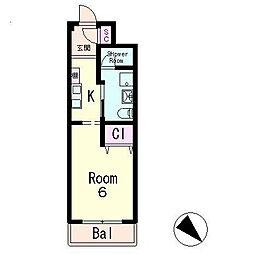 GLANZ HAUS[4階]の間取り