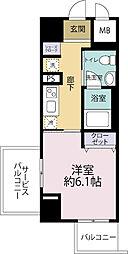 JR大阪環状線 寺田町駅 徒歩6分の賃貸マンション 10階1Kの間取り