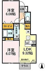 仮)D-room知古[105号室]の間取り