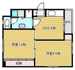 EPO西長堀レジデンス[5階]の間取り