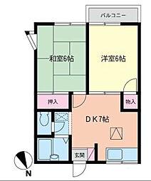 ヒルズMS21[2階]の間取り