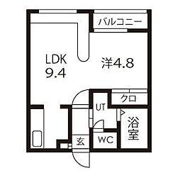 ホークメゾン札幌2号館[2階]の間取り