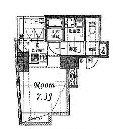 都営浅草線 東日本橋駅 徒歩10分の賃貸マンション 7階1Kの間取り
