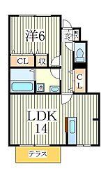 センターフィールドA[1階]の間取り