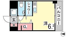 ワコーレプラティーク神戸深江駅前[701号室]の間取り