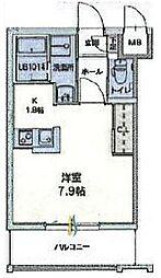 福岡県大野城市曙町2丁目の賃貸マンションの間取り