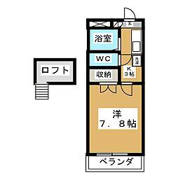 K−ハウス壱番館[1階]の間取り