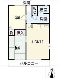 グランハイム A棟[2階]の間取り