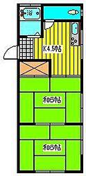 コーポ原田[7号室]の間取り