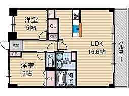 ネオコート上土室[3階]の間取り