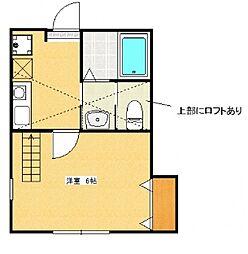神奈川県相模原市緑区西橋本3丁目の賃貸アパートの間取り