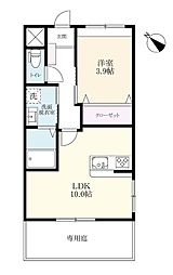 (仮)富岡新築[1階]の間取り
