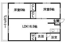 Regalo小倉南壱番館[402号室]の間取り