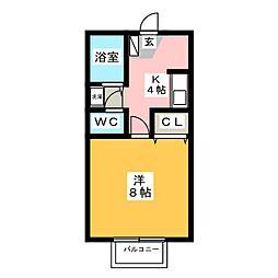ウエストステージ[1階]の間取り