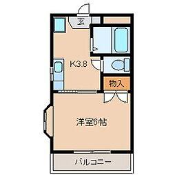 東京都多摩市東寺方1丁目の賃貸マンションの間取り