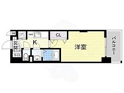 Luxe新大阪α 3階1Kの間取り