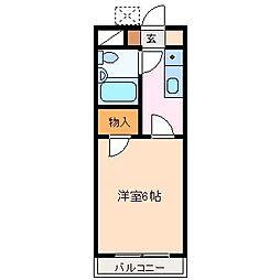 コーポワールド[1階]の間取り