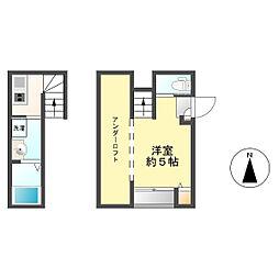 西区新福寺1丁目コーポ[2階]の間取り