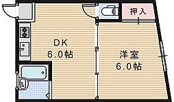 大阪府大阪市阿倍野区相生通2丁目の賃貸マンションの間取り