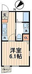 東京メトロ東西線 門前仲町駅 徒歩7分の賃貸マンション 3階1Kの間取り