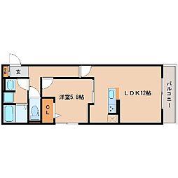 兵庫県尼崎市名神町3丁目の賃貸アパートの間取り