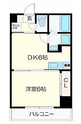 広島県呉市中央2丁目の賃貸マンションの間取り