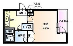 大阪府堺市北区百舌鳥赤畑町4丁の賃貸アパートの間取り