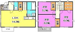 [一戸建] 東京都練馬区関町北4丁目 の賃貸【/】の間取り
