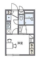 神奈川県川崎市幸区小向町の賃貸アパートの間取り