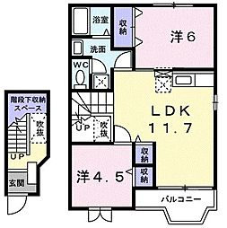 ドゥーブリズK I[0203号室]の間取り